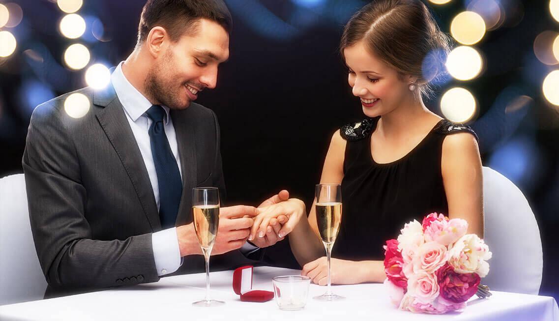 Verlobungsring wird verschenkt Emotionen